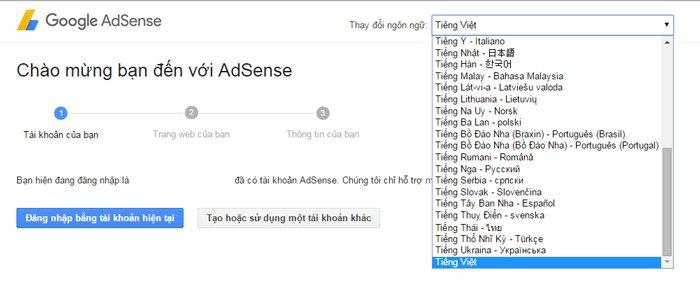 tài khoản google adsense ảnh 2